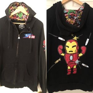 Tokidoki Marvel Spiderman Iron Man Hoodie Small
